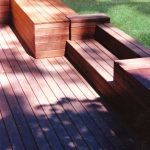 Timber decking and bench seating