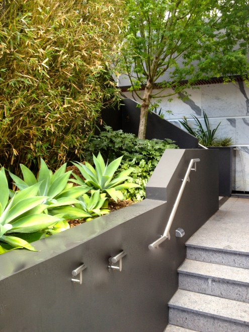 North Shore stairs, lighting, landscaping