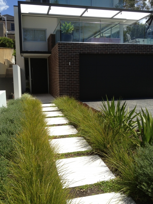 Modern architectural landscaping